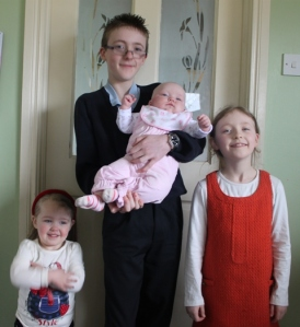 James with the Princesses