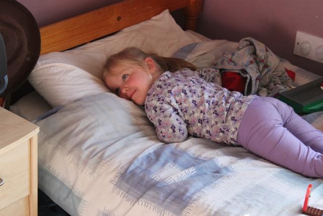 Elizabeth lying out