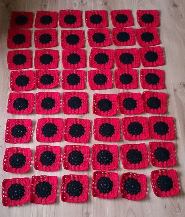 Flanders Poppies Squares