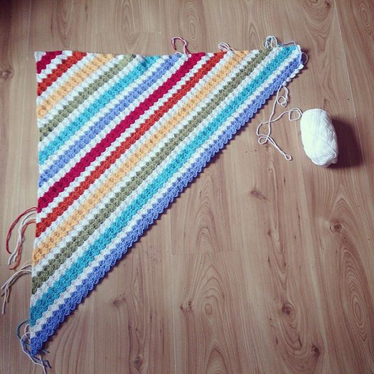 Rainbow Corners Blanket