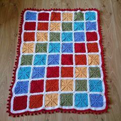 Rainbow Squares Blanket