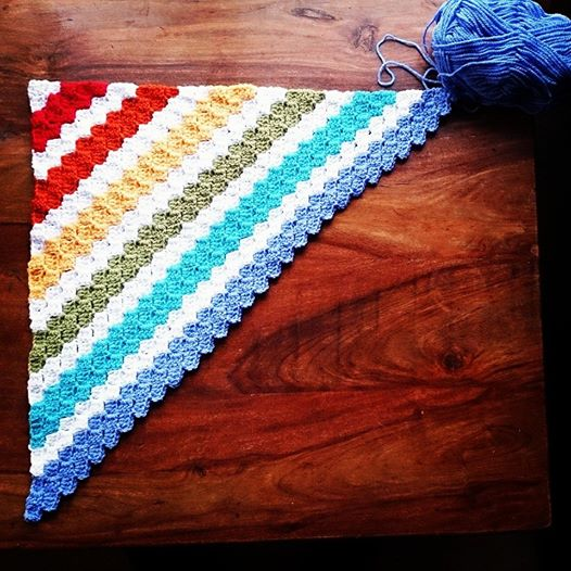 Rainbow Corners Blanket - Rainbow blanket #2
