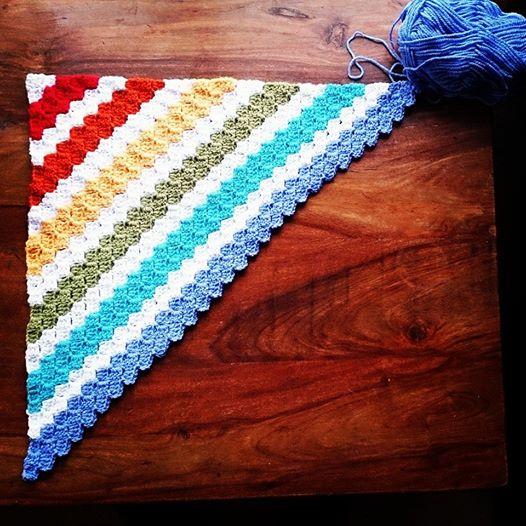 Rainbow Corners Blanket - Rainbow blanket #2