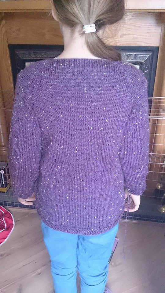 Caoimhe's Sunday Sweater - Pre Blocking