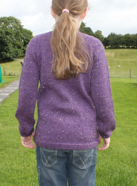 Caoimhe's Sunday Sweater - after blocking