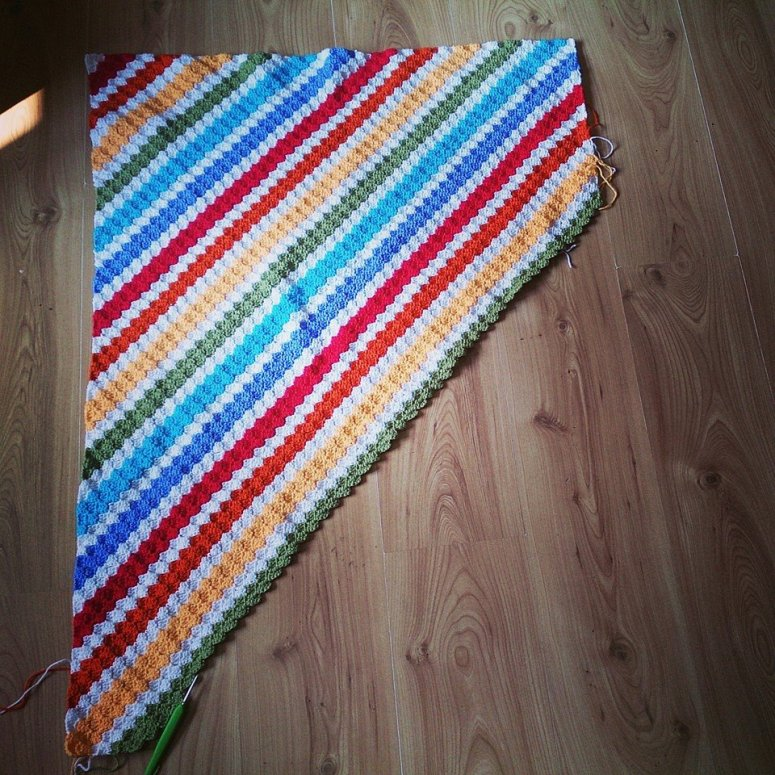 Rainbow Corners Blanket.