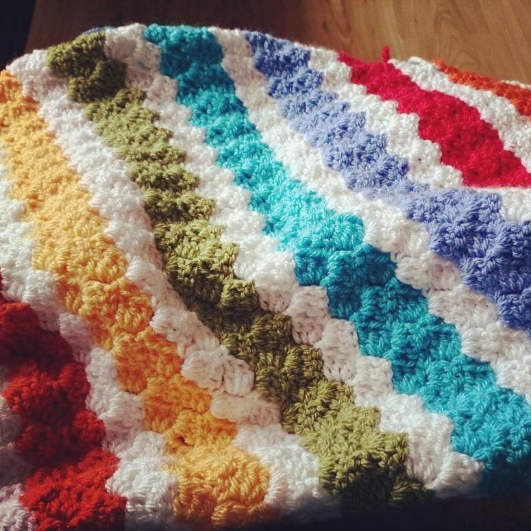 Rainbow Corners Blanket