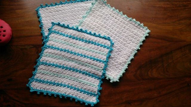 Mint stripe cloths